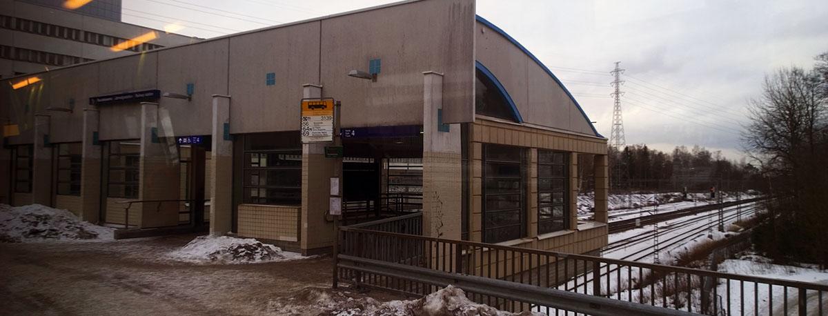HSL 56 bussin pysäkki Käpylässä