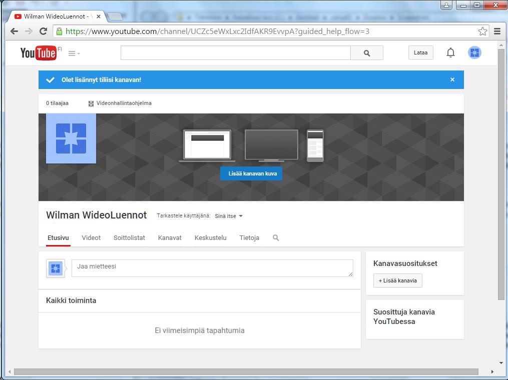 YouTube kanavan ehdot